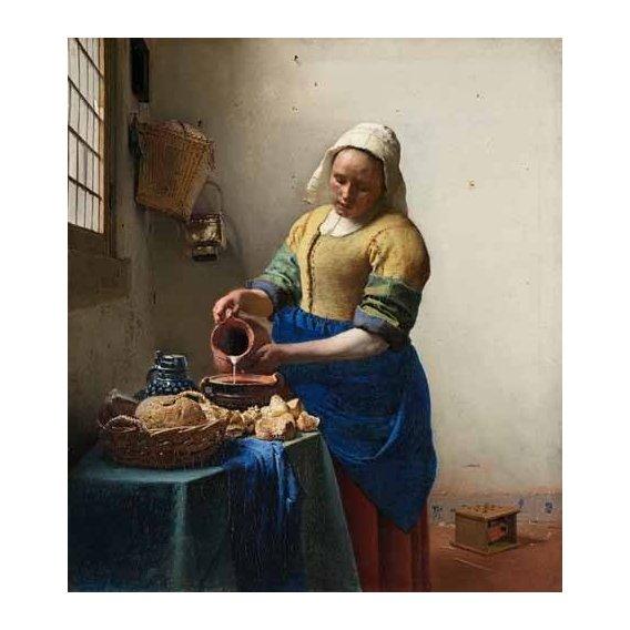 cuadros de retrato - Cuadro -The Milkmaid, 1660-