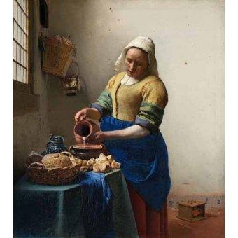 - Cuadro -The Milkmaid, 1660- - Vermeer, Johannes