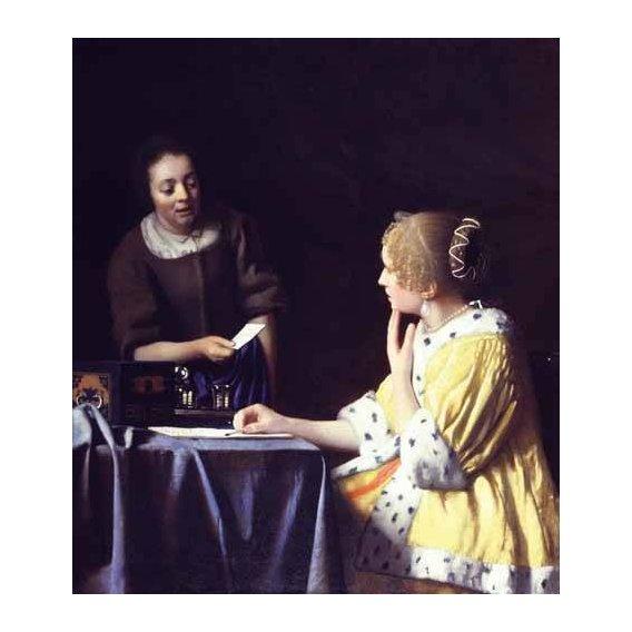 cuadros de retrato - Cuadro -Mistress and Maid ca. 1666-1667-