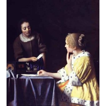 - Cuadro -Mistress and Maid ca. 1666-1667- - Vermeer, Johannes