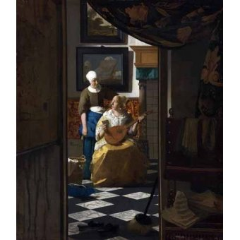 - Cuadro -The Love Letter, 1669- - Vermeer, Johannes