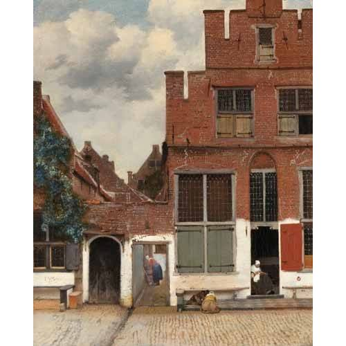 cuadros de paisajes - Cuadro -View of Houses in Delft, known as 'The little Street', 1658-