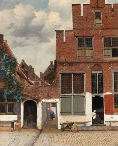 cuadros-de-paisajes - Cuadro -View of Houses in Delft, known as 'The little Street', 1658- - Vermeer, Johannes
