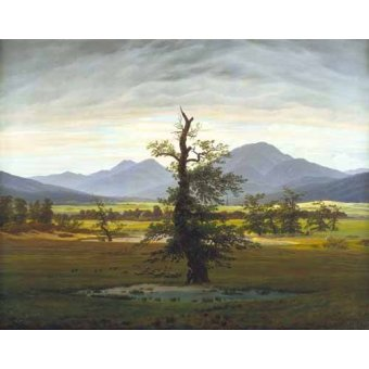 - Cuadro -Solitary Tree (also known as Village Landscape in Morning Light - Friedrich, Caspar David