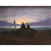 Cuadro -Moonrise over the Sea, 1822-