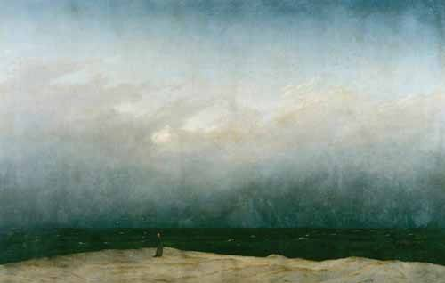 cuadros-de-marinas - Cuadro -Monk by the Sea, 1810- - Friedrich, Caspar David