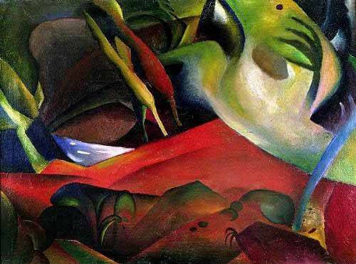 cuadros-abstractos - Cuadro -The storm, 1911- - Macke, August