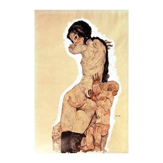cuadros de retrato - Cuadro -Mother and Child, 1910-