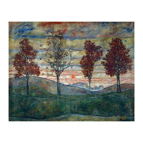cuadros de paisajes - Cuadro -Four Trees-