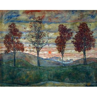 - Cuadro -Four Trees- - Schiele, Egon