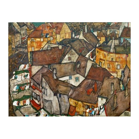 cuadros de paisajes - Cuadro -A Village-