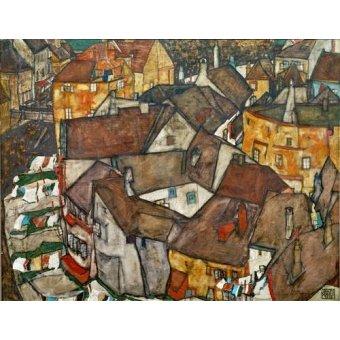 - Cuadro -A Village- - Schiele, Egon