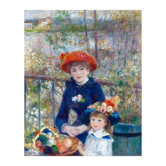 cuadros de retrato - Cuadro -Dos Hermanas, 1881-