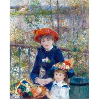 - Cuadro -Dos Hermanas, 1881- - Renoir, Pierre Auguste