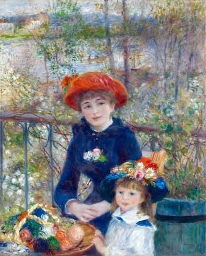 cuadros-de-retrato - Cuadro -Dos Hermanas, 1881- - Renoir, Pierre Auguste