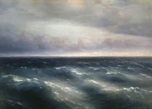 cuadros-de-marinas - Cuadro -The Black Sea, 1881- - Aivazovsky, Ivan Konstantinovich