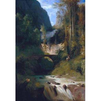 - Cuadro -Gorge near Amalfi- - Blechen, Karl