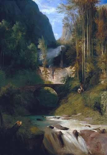 cuadros-de-paisajes - Cuadro -Gorge near Amalfi- - Blechen, Karl