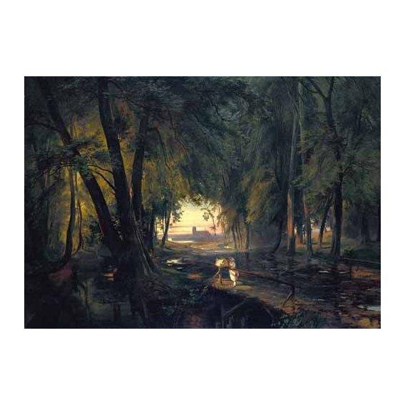 cuadros de paisajes - Cuadro -Forest path near Spandau-