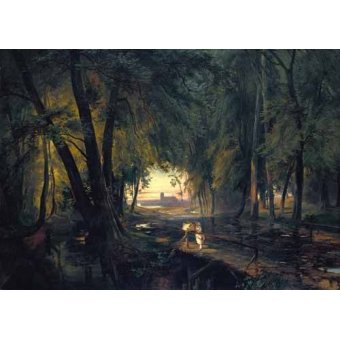 - Cuadro -Forest path near Spandau- - Blechen, Karl