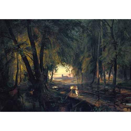 Cuadro -Forest path near Spandau-