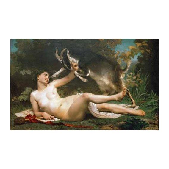 cuadros de desnudos - Cuadro -Bacchante-