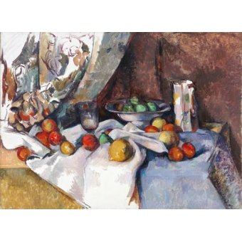 - Cuadro -Still Life with Apples, 1895-1898- - Cezanne, Paul