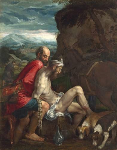 cuadros-religiosos - Cuadro -El Buen Samaritano (The Good Samaritan)- - Bassano, Jacopo da Ponte