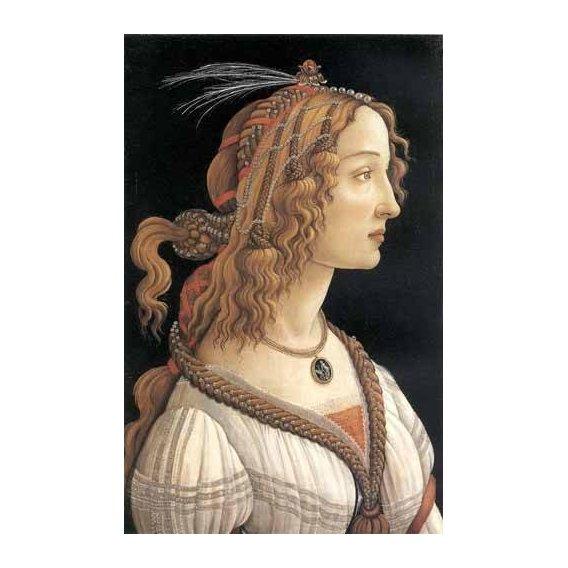 cuadros de retrato - Cuadro -Retrato femenino-
