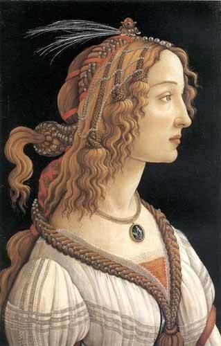 cuadros-de-retrato - Cuadro -Retrato femenino- - Botticelli, Alessandro
