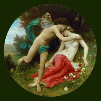 cuadros de retrato - Cuadro -Flora and Zephir- - Bouguereau, William
