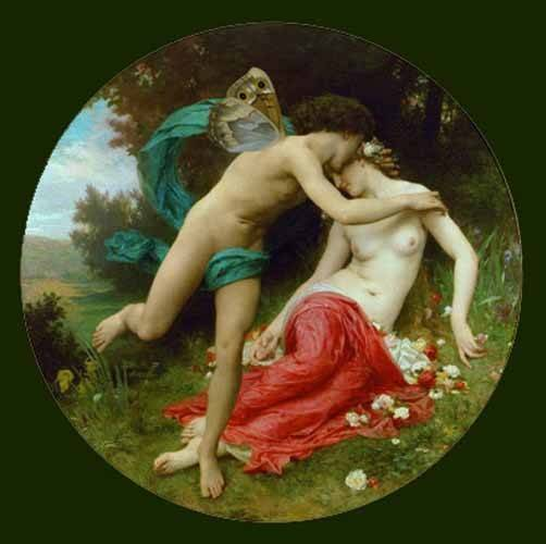 cuadros-de-retrato - Cuadro -Flora and Zephir- - Bouguereau, William