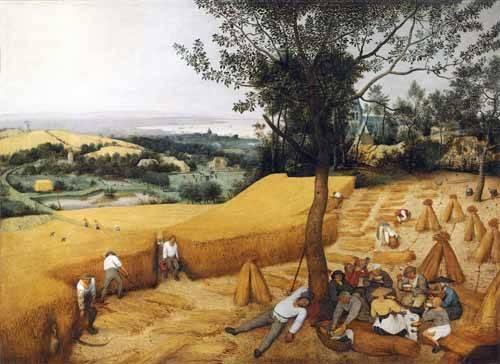 cuadros-de-paisajes - Cuadro -The Harvesters- - Bruegel