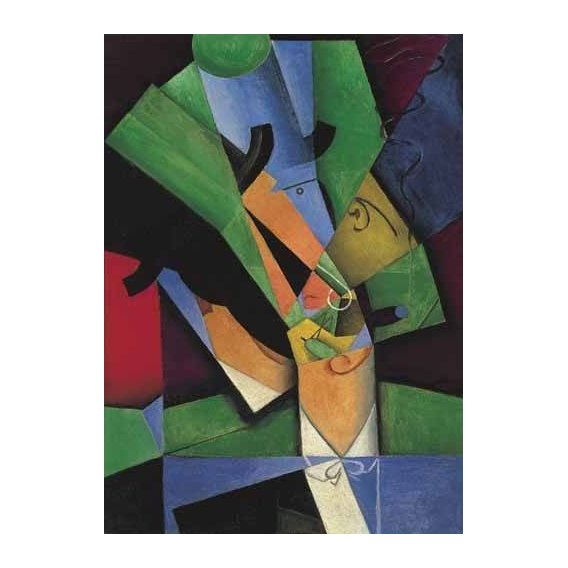 cuadros abstractos - Cuadro -El Fumador, 1913-