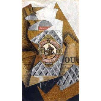 cuadros de bodegones - Cuadro -La botella de anis- - Gris, Juan
