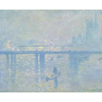 cuadros de marinas - Cuadro -Charing Cross Bridge, 1899- - Monet, Claude