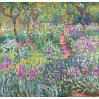 Cuadro -The Iris Garden at Giverny- - Monet, Claude