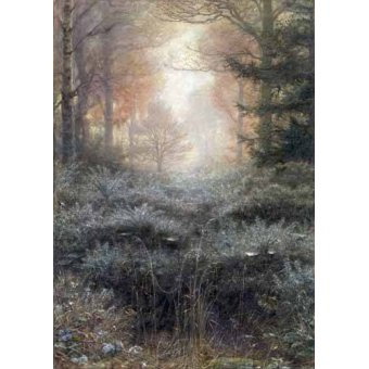 - Cuadro -Dew-Drenched Furze- - Millais, John Everett