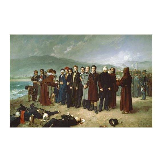cuadros de retrato - Cuadro -Fusilamientos de Torrijos y sus compañeros en las playas de mal