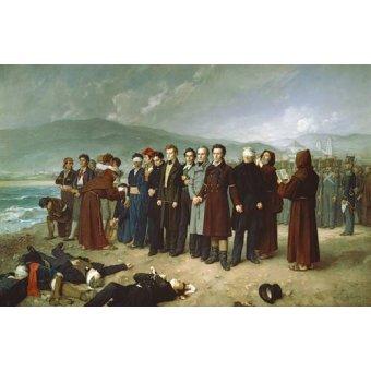 - Cuadro -Fusilamientos de Torrijos y sus compañeros en las playas de mal - Gisbert Perez, Antonio