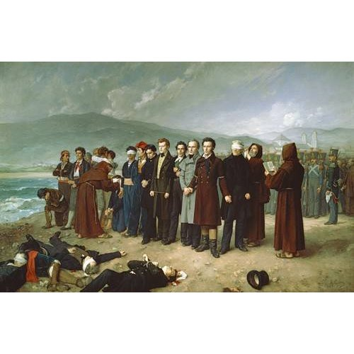 Cuadro -Fusilamientos de Torrijos y sus compañeros en las playas de mal