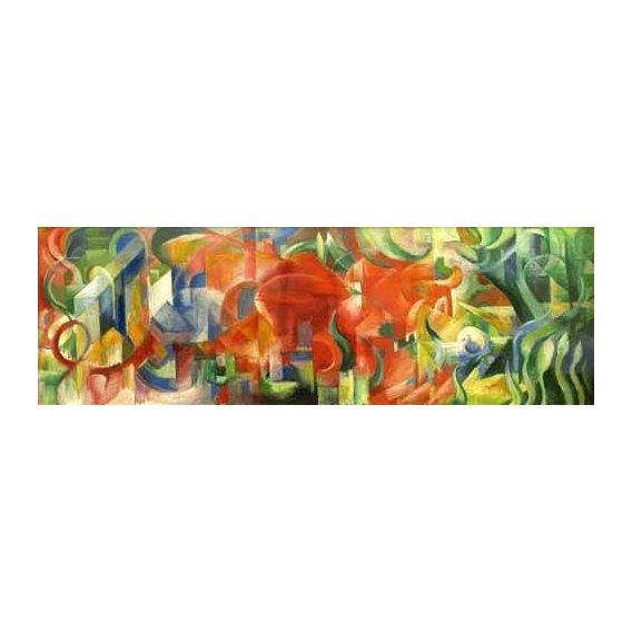 cuadros abstractos - Cuadro -Spielende Formen, 1914-