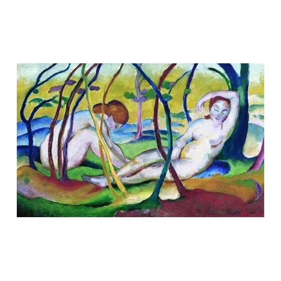 cuadros de desnudos - Cuadro -Nudes under Trees, 1911-