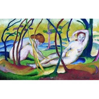 - Cuadro -Nudes under Trees, 1911- - Marc, Franz