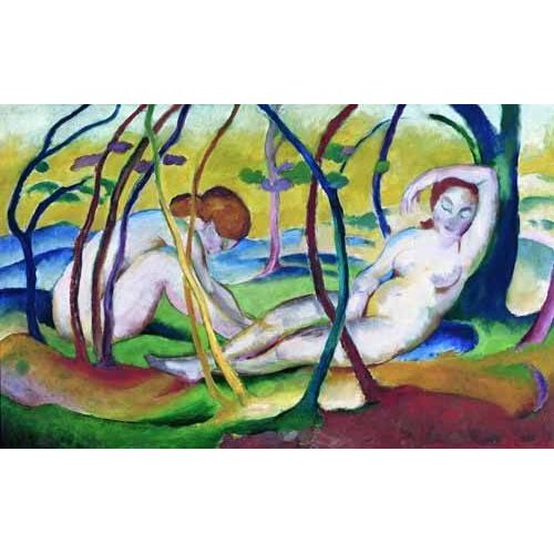 Cuadro -Nudes under Trees, 1911-