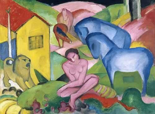 cuadros-de-retrato - Cuadro -The Dream- - Marc, Franz
