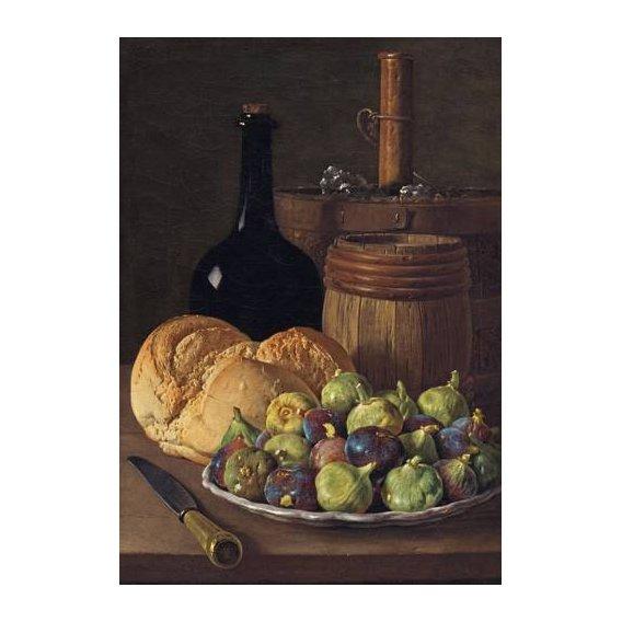 cuadros de bodegones - Cuadro -Bodegon con higos y pan, 1770-