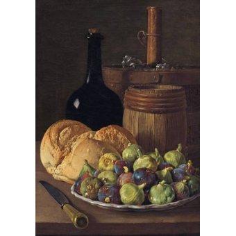 Cuadro -Bodegon con higos y pan, 1770-
