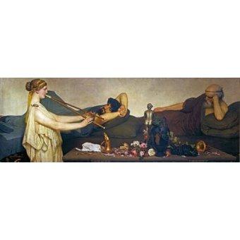 - Cuadro -La siesta, Escena Pompeyana- - Alma-Tadema, Lawrence