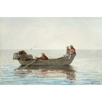 - Cuadro -Three Boys in a Dory with Lobster Pots, 1875- - Homer, Winslow